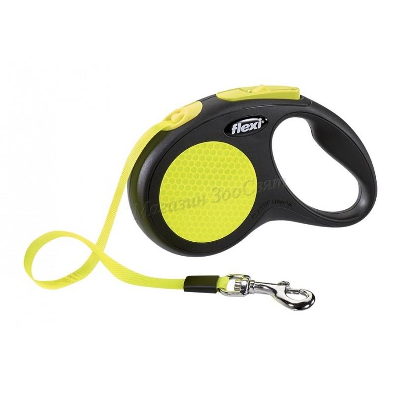 Flexi Neon Tape - Автоматичен повод ролетка лента неон