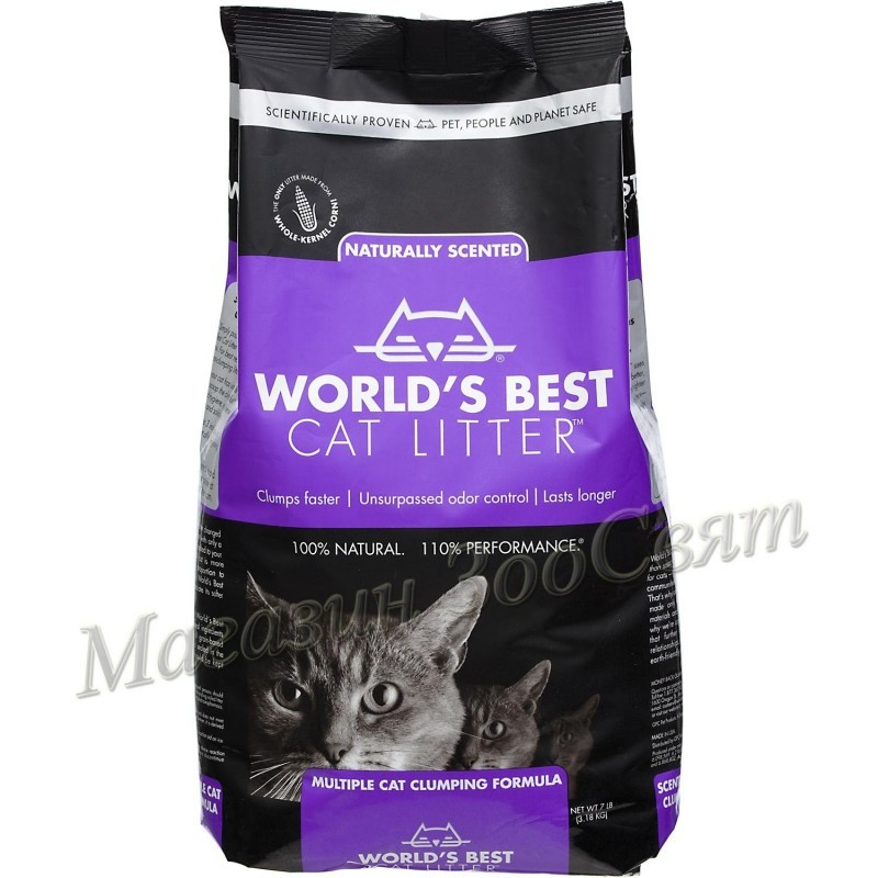 World's Best Cat Litter Lavanda / Царевична котешка тоалетна лавандула