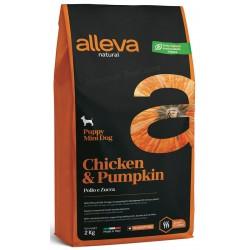 Alleva Natural Chicken And Pumpkin Puppy Mini / Алева натурал с Пилешко & Тиква.