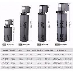 Вътрешна помпа - филтър  1200 l/h  / Sunsun  JP - 024F