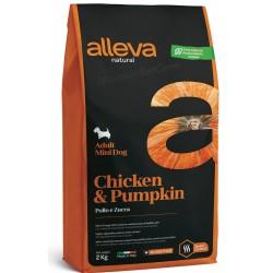 Alleva Natural Chicken And Pumpkin Adult Mini .   Алева Натурал Пиле и тиква за израснали кучета дребни породи.