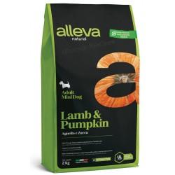 Alleva Natural Lamb And Pumpkin Adult Mini.  Алева Натурал с Агнешко & Тиква за израснали кучета от малки породи.