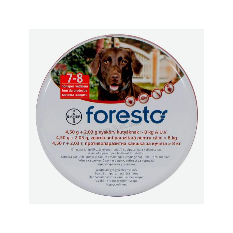 Форесто - Bayer Foresto против бълхи и кърлежи за кучета